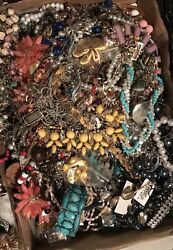 Jewelry Vintage Modern Huge Lot Craft Junk Wearable Over One Full Pound $22.00