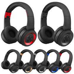 Wireless Headphones Bluetooth Headset Noise Cancelling Over Ear With Microphone $16.69