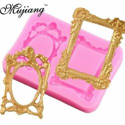 DIY Vintage Mirror Frame Silicone Mold Epoxy Resin Jewelry Craft Decorating Tool $9.62