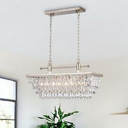 Ivar 4 Light Tiered Chandelier with Crystal Accents Antique Silver $169.99