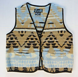 Womens At Last amp; Co Wool Blend Southwest Design Aztech Vest Size M $14.96