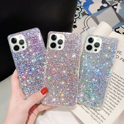 For iPhone 13 12 Pro Max 11 XR XS MAX 7 8 Shockproof Bling Case Rubber Cover $7.93