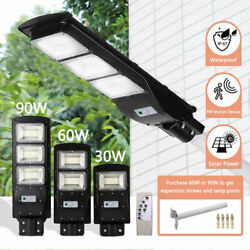 90W commercial LED Solar street light Pir Motion Sensor outdoor dusk dawn lamp
