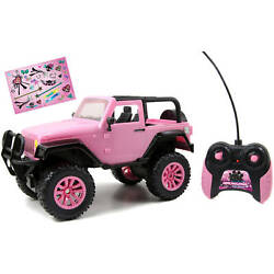 Pink Jeep Toy Remote Control Girls Power Vehicle Car Model Kids Gift 1 16 Scale $38.98