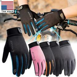 Outdoor Cycling Bicycle MTB Full Finger Glove Sports Anti Slip Motorcycle Gloves $7.09