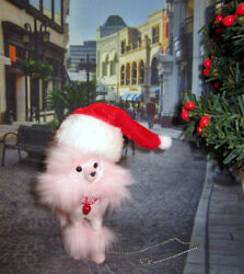 Happy Holidays Princess Poodle Dog for OOAK Model muse Silkstone Barbie diorama $36.99