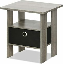 Bedside End Bedroom Table Nightstand With Modern Bin Drawer French End Table $40.99