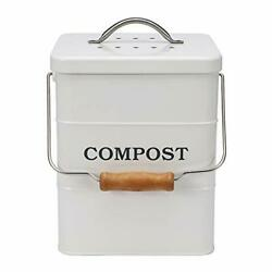 ayacatz Stainless Steel Compost Bin for Kitchen Countertop Compost White $46.69