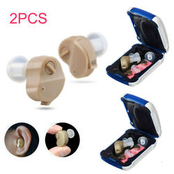 Pair Invisible Hearing Aid Mini In Ear Sound Voice Amplifier Enhancer Ear Care $17.99