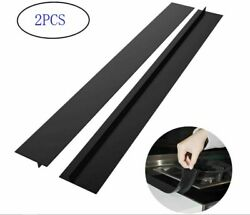 2PCS Silicone Stove Counter Gap Cover Oven Guard Spill Seal Slit Filler Kitchen $7.85