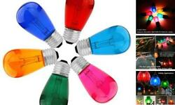 Colored Bulbs 15 Pack S14 Vintage Incandescent Edison Glass Lamp Replacement $36.60
