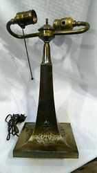 Pairpoint reverse painted puffy lamp antique base $179.00