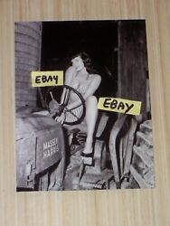 4X5 Vintage Bettie Page Photo Betty In A Bikini On A Massey Harris Farm Tractor $1.99