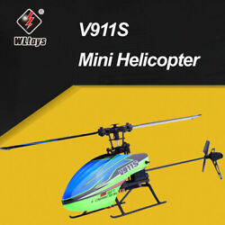 WLtoys V911S 4CH 6G Non Aileron RC Helicopter For Kids Toys W 2 Batteries V8Q1 $60.78