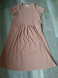 FP Beach Free People Women#x27;s Size Large Long Cotton Dress With Pockets $38.00