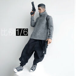 1 6 Scale Trendy Soldier CROWTOYS Grey Hoodie Fat Leg Pants Model for 12quot; $19.99
