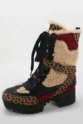 womens boots new in the box fall vibes boot black all sizes cheetah $70.00