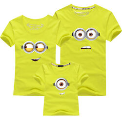 Hot Family fitted Father mother baby summer clothes lovers T shirt despicable Me $14.08