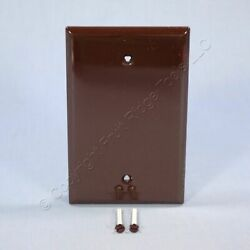 Cooper Commercial Brown Unbreakable Mid Size 1 Gang Blank Wallplate Cover PJ13B