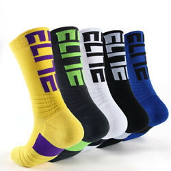 Men Novelty Letter Digital Sport Basketball Socks Colorful Outdoor Student Style $10.51