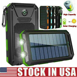 2000000mAh Solar Power Bank LED Dual USB Backup Battery Charger Fr Mobile Phone $16.99