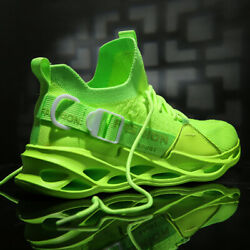Men#x27;s Non Slip Sports Running Shoes Casual Blade Athletic Sneakers Jogging Gym $26.99