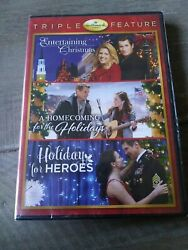 Hallmark Triple Feature A Homecoming For The Holidays Holiday For Heroes Dvd NEW $29.99
