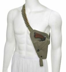 US M3 Victory Revolver Pilots Canvas Shoulder Holster with Shell loops OD $32.99