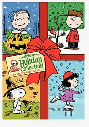 Peanuts Holiday Collection Remastered Deluxe 3 DVD Set Charlie Brown New $29.95