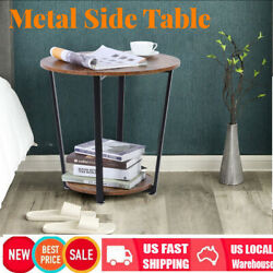 2 Tier Side End Coffee Table Round Coffee Tea Side Table Living Room Furniture $52.72