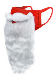 Holiday Santa Beard Face Mask Costume for Adults for Christmas 2020 One Size $10.99