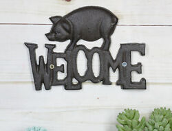 Rustic Country Farm Bacon Swine Pig Welcome Sign Wall Decor Cutout Plaque 8quot;L $25.99