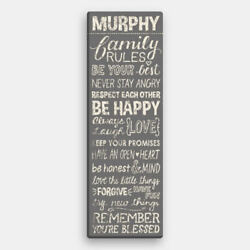 Personalized Family Rules Canvas Wall Art $39.99