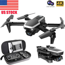 S171 Pro FPV Mini Foldable Drone With 4k HD Dual Camera Wifi 2.4G RC Quadcopter $41.60