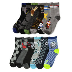6 Pairs Boys Socks Crew Wholesale Casual Size 4 6 4T 5T Lot Little Kids Fashion $18.99