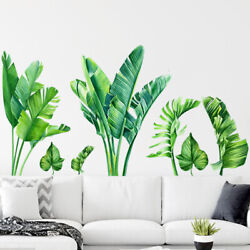 Ins Tropical Storm Green Plant Wall Living Room Bedroom Background Wall Sticker $15.50