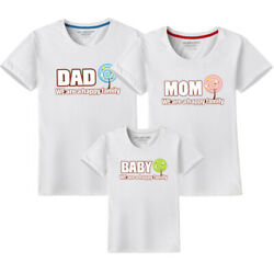 Family fitted Casual clothes Couple lovers T Shirt We are happy family New tide $14.08