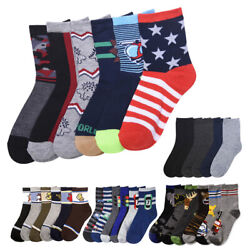 12 Pairs Lot Kids Socks Toddler Boys Casual Ages 6 8 Animal Design Wholesale USA $12.99
