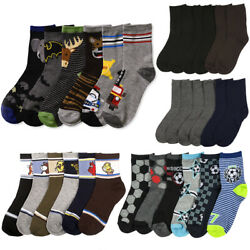 6 Pairs Assorted Kids Socks Size Ages 2 3 Years Animal Print Boys 2T 3T Toddler $12.99