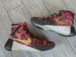 2015 shoes NIKE camouflage HYPERDUNK basketball 14 US red orange 818015 991