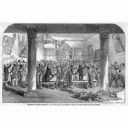 IRELAND 89th Regiment in the Town Hall at Waterford Antique Print 1854 GBP 9.95