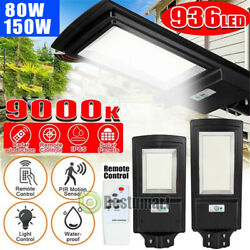 150W 936LED Commercial LED Solar Street Light IP67 Sensor Dusk DawnRemotePole