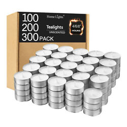 White Tea Light Candles 100 200 300 Pack Burn 4 6 8 Hours Unscented Tealights $23.76