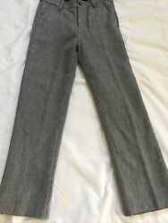 Janie And Jack Boys Dress Pants Size 10 Grey Blended Wool $12.00