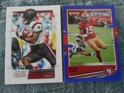 2019 Score Deebo Samuel RC And 20 Donruss Blue Free Shipping $4.00