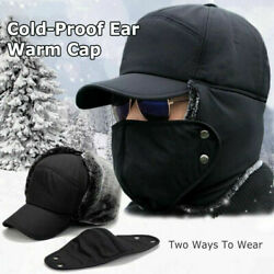 Outdoor Cycling Cold Proof Ear Warm Cap Thickened Ear Winter Warmer Dad#x27;s Hat $7.99