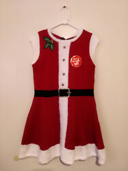 SANTARINA MRS CLAUS Christmas New Year Costume Party Dress amp; Hat NEW size M P $19.44