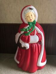 VINTAGE SANTA#x27;S BEST 40quot; MRS SANTA CLAUS CHRISTMAS BLOW MOLD YARD DECOR LIGHT UP $200.00