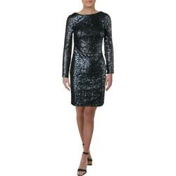 Calvin Klein Womens Navy Mini Sequined Party Cocktail Dress 14 BHFO 9030 $17.09