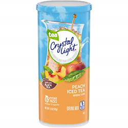 Crystal Light Peach Iced Tea Drink Mix 72 Pitcher Packets 12 Packs Of 6 $54.99